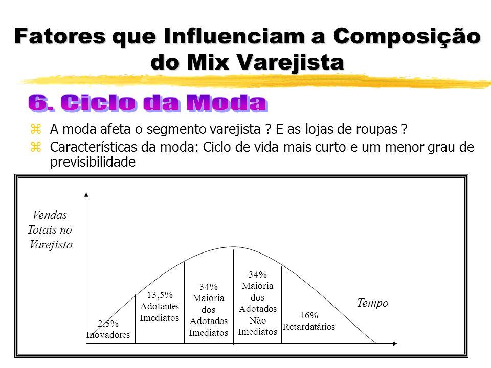 Fatores que Influenciam a Composição do Mix Varejista