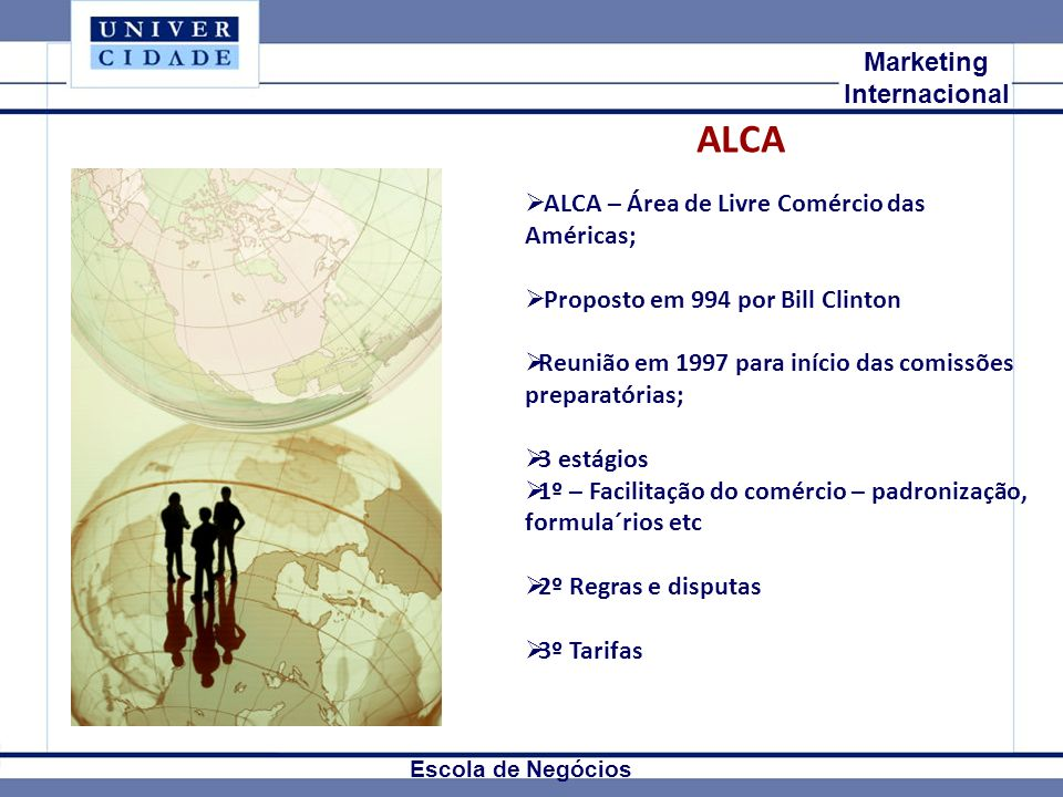 ALCA Mkt Internacional Marketing Internacional