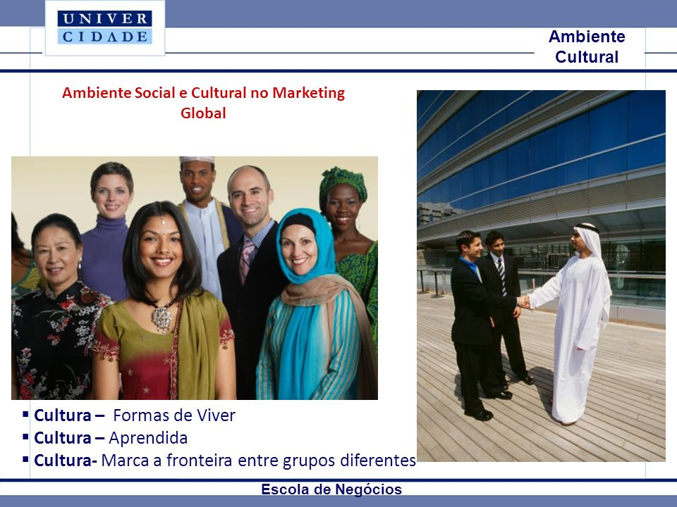 Ambiente Social e Cultural no Marketing Global