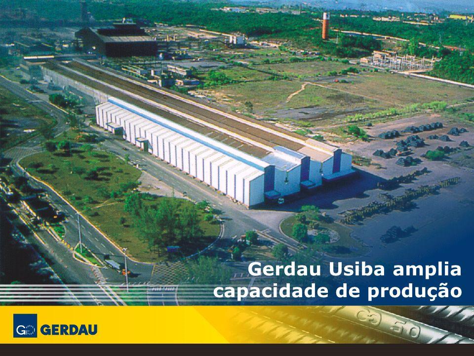 Gerdau Usiba amplia capacidade de produção