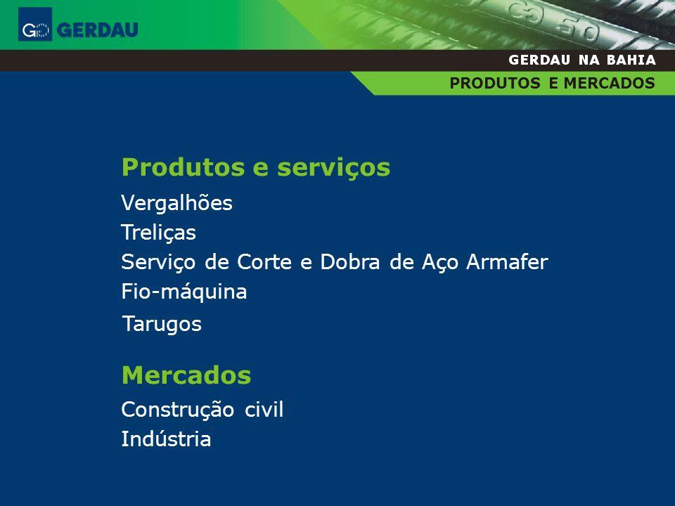 Produtos e serviços Mercados Vergalhões Treliças