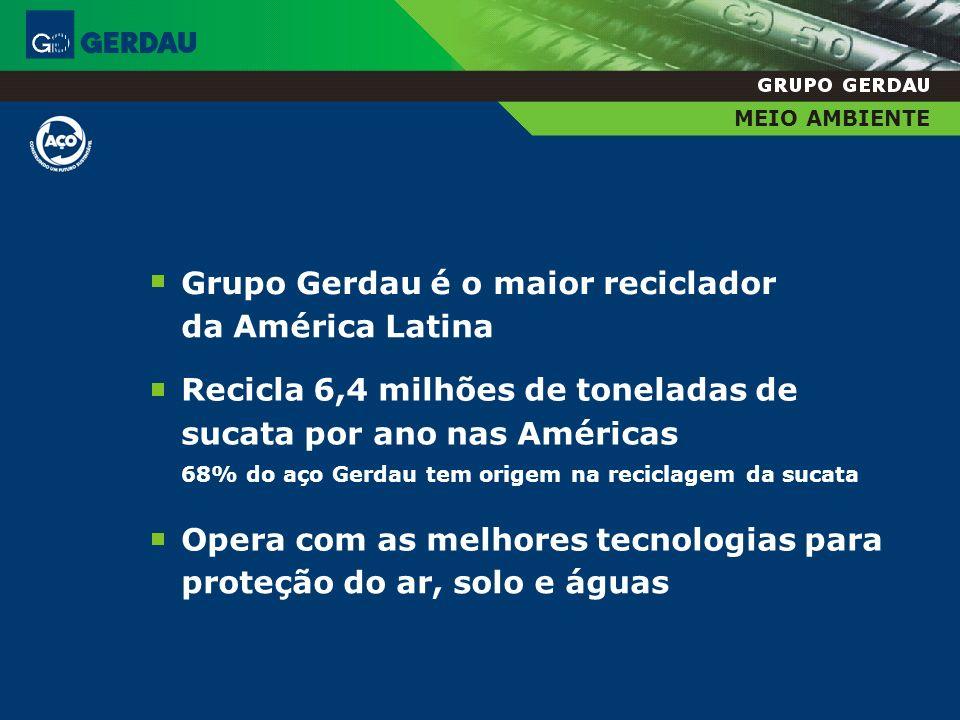 Grupo Gerdau é o maior reciclador da América Latina