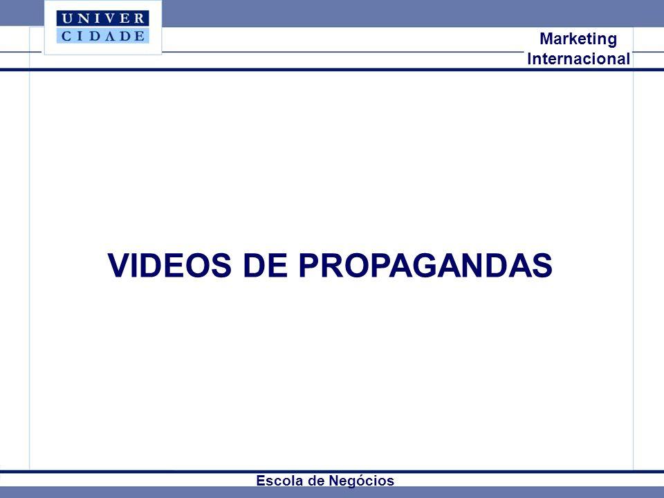 VIDEOS DE PROPAGANDAS Mkt Internacional Marketing Internacional