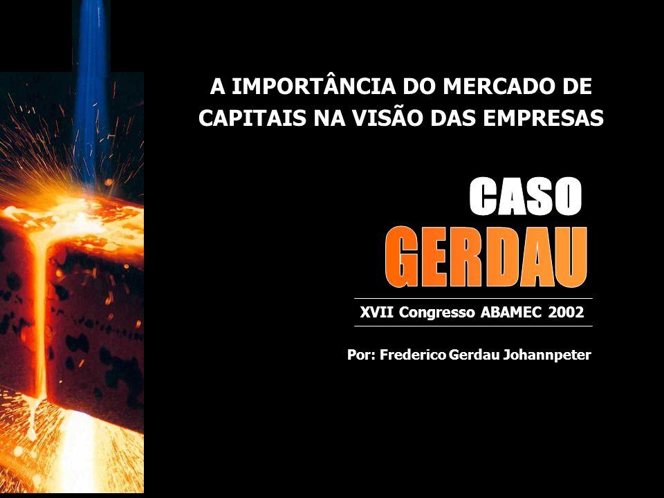 CASO GERDAU A IMPORTÂNCIA DO MERCADO DE CAPITAIS NA VISÃO DAS EMPRESAS