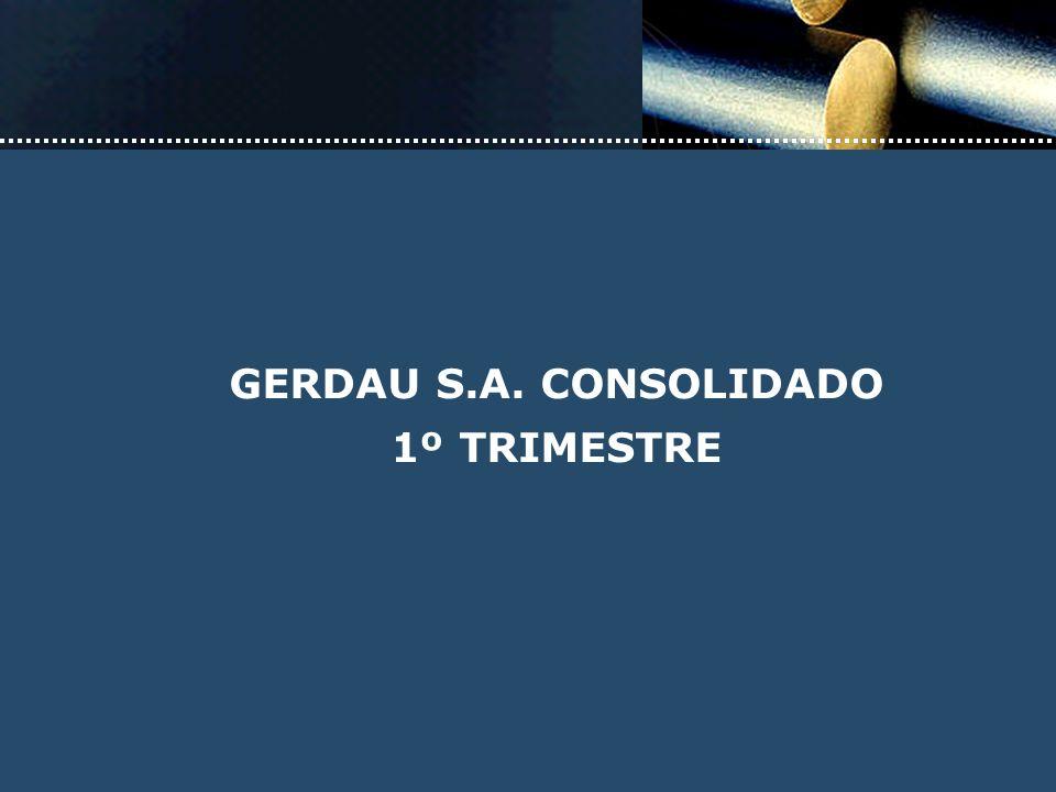 GERDAU S.A. CONSOLIDADO 1º TRIMESTRE