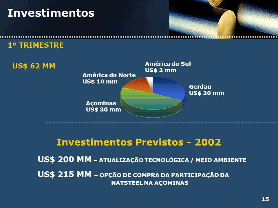 Investimentos Previstos - 2002