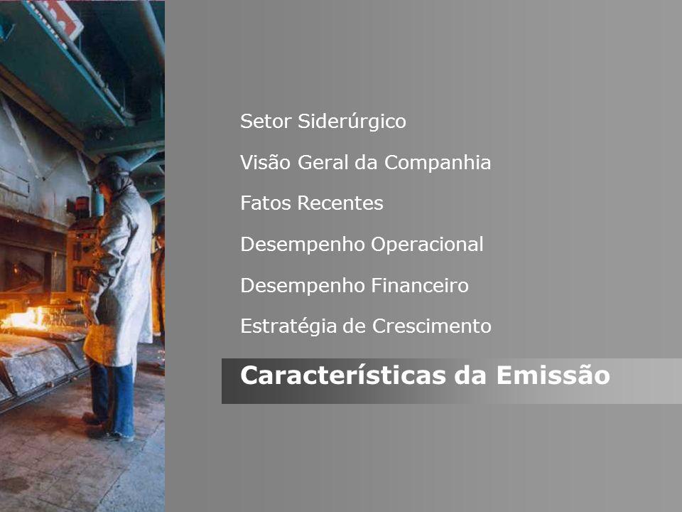 Características da Emissão