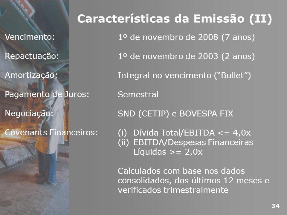 Características da Emissão (II)