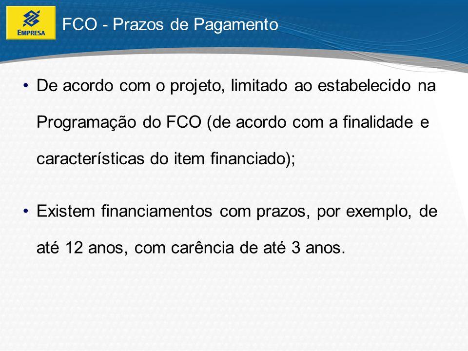 FCO - Prazos de Pagamento