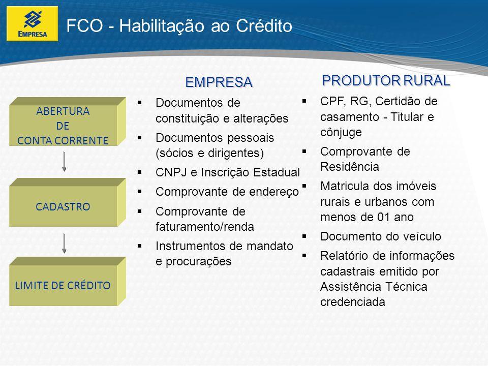 FCO - Habilitação ao Crédito