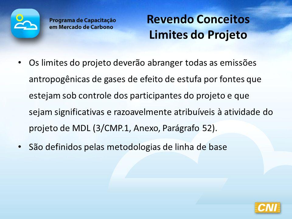 Revendo Conceitos Limites do Projeto