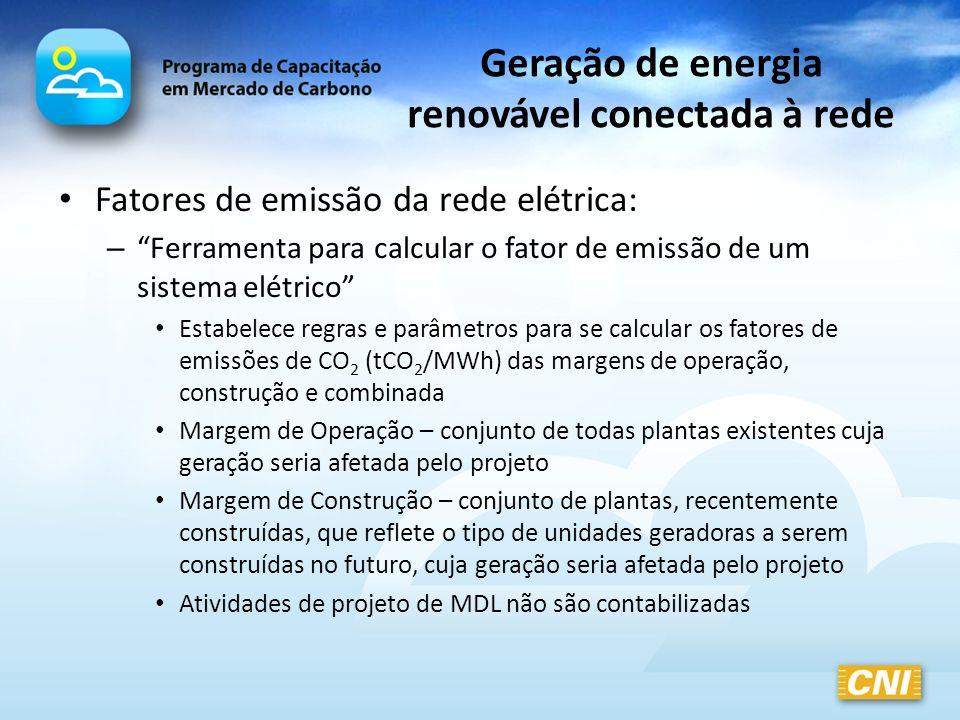 Geração de energia renovável conectada à rede