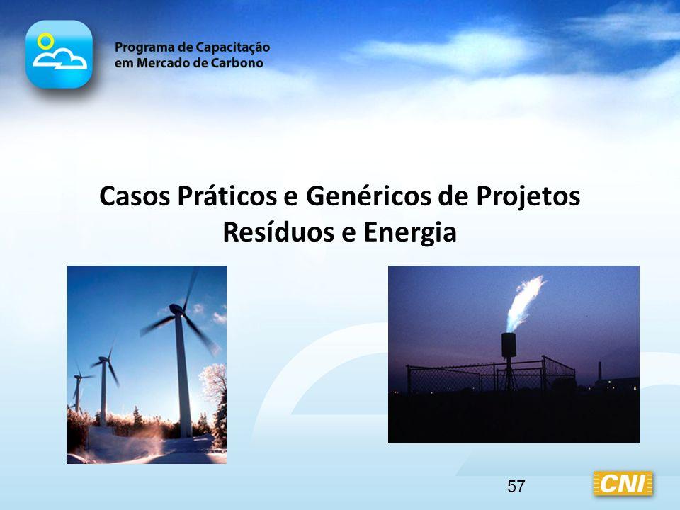 Casos Práticos e Genéricos de Projetos Resíduos e Energia