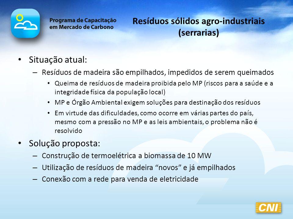 Resíduos sólidos agro-industriais (serrarias)