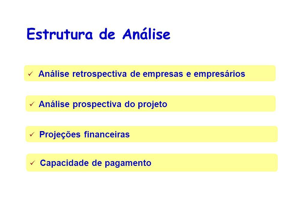 Estrutura de Análise Análise retrospectiva de empresas e empresários