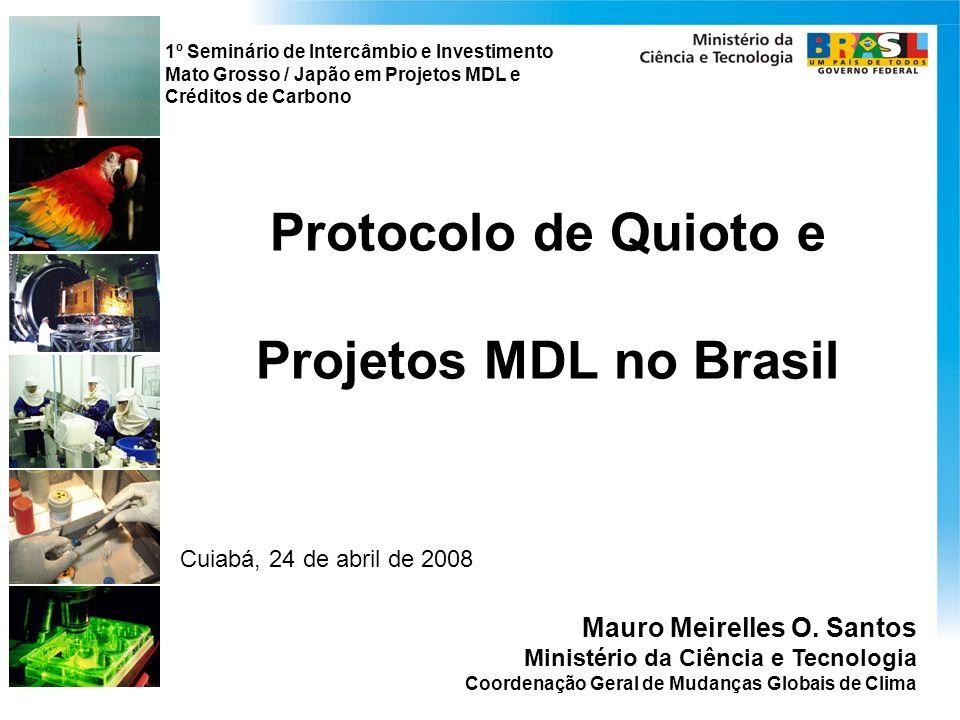 Protocolo de Quioto e Projetos MDL no Brasil