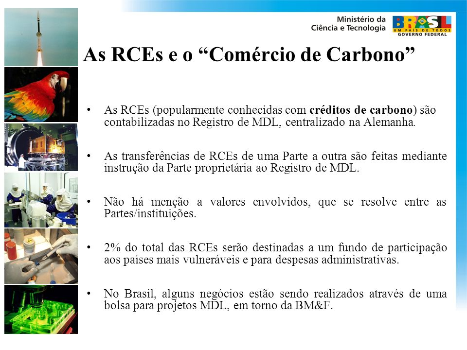 As RCEs e o Comércio de Carbono