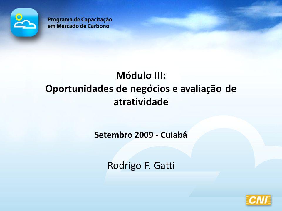 Módulo III: Oportunidades de negócios e avaliação de atratividade