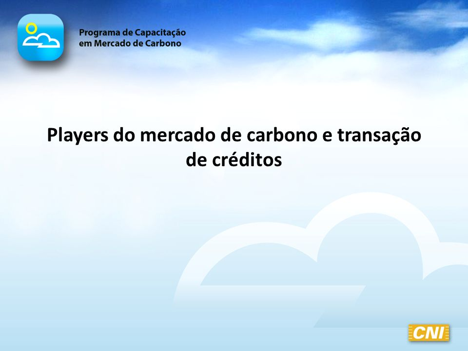 Players do mercado de carbono e transação de créditos