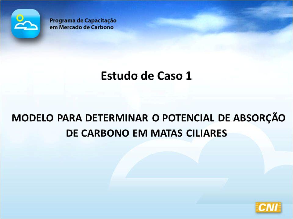 Estudo de Caso 1 MODELO PARA DETERMINAR O POTENCIAL DE ABSORÇÃO DE CARBONO EM MATAS CILIARES