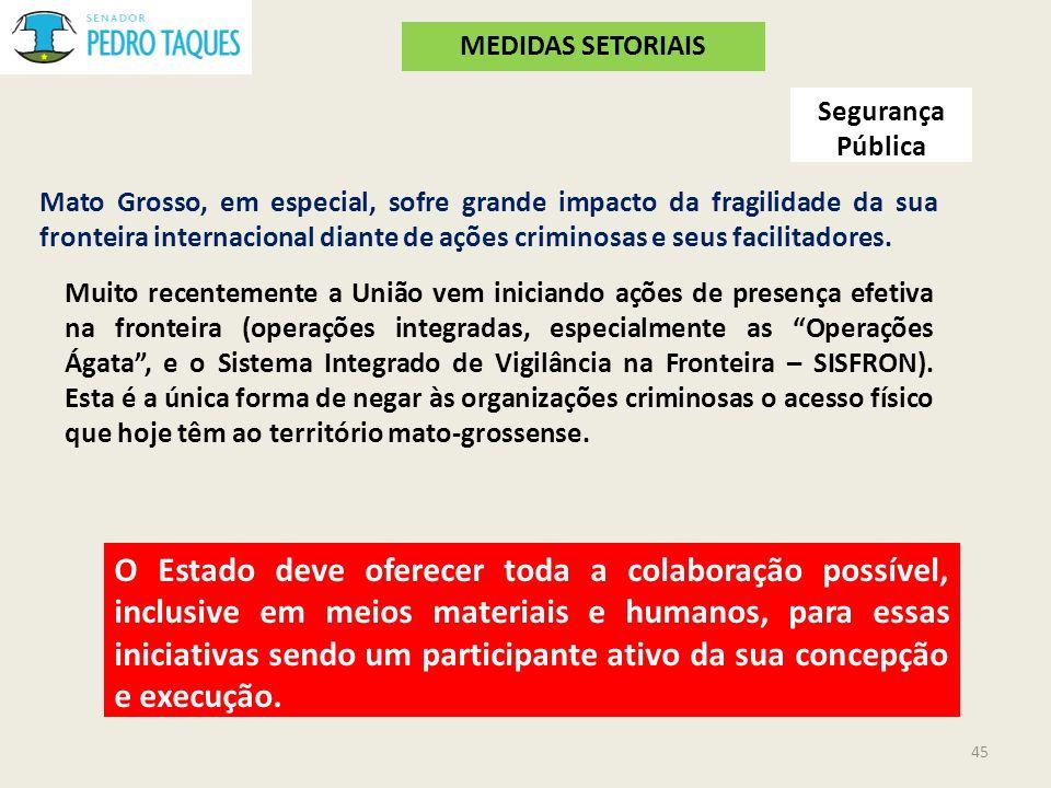 MEDIDAS SETORIAIS Segurança Pública.