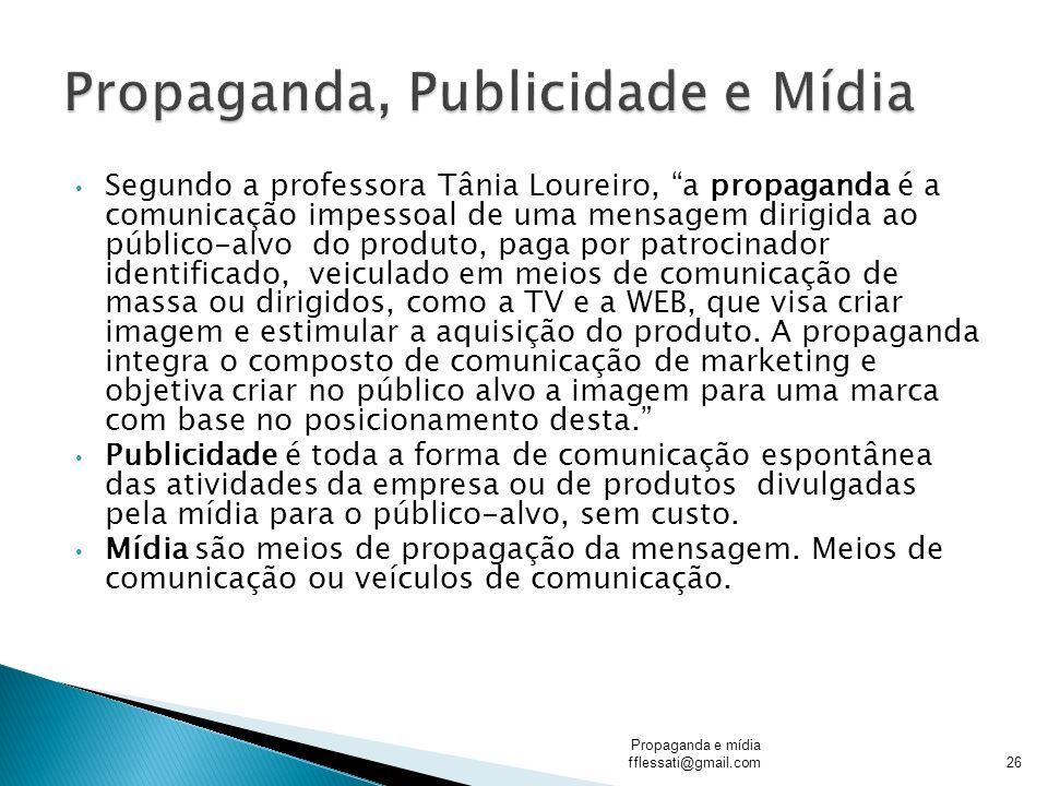 Propaganda, Publicidade e Mídia