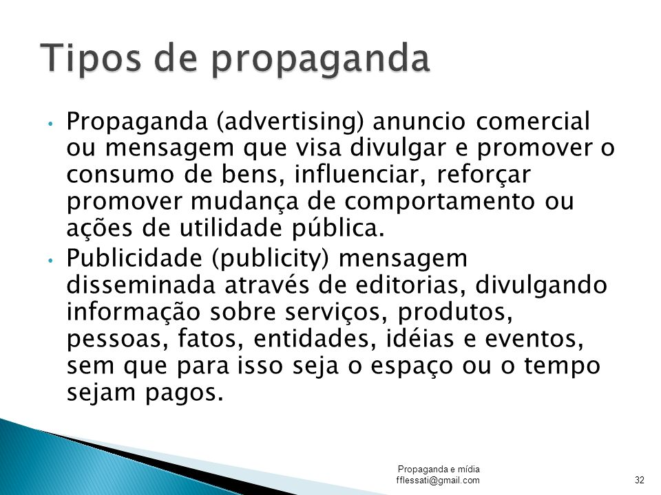 Tipos de propaganda