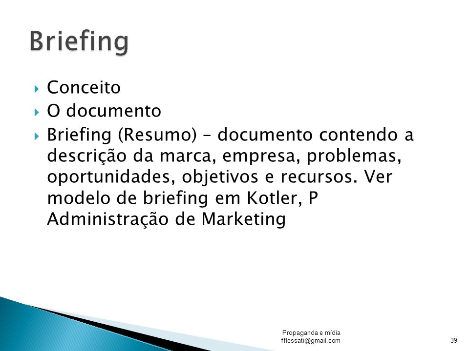 Briefing Conceito O documento