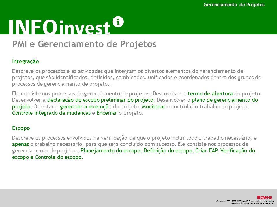PMI e Gerenciamento de Projetos