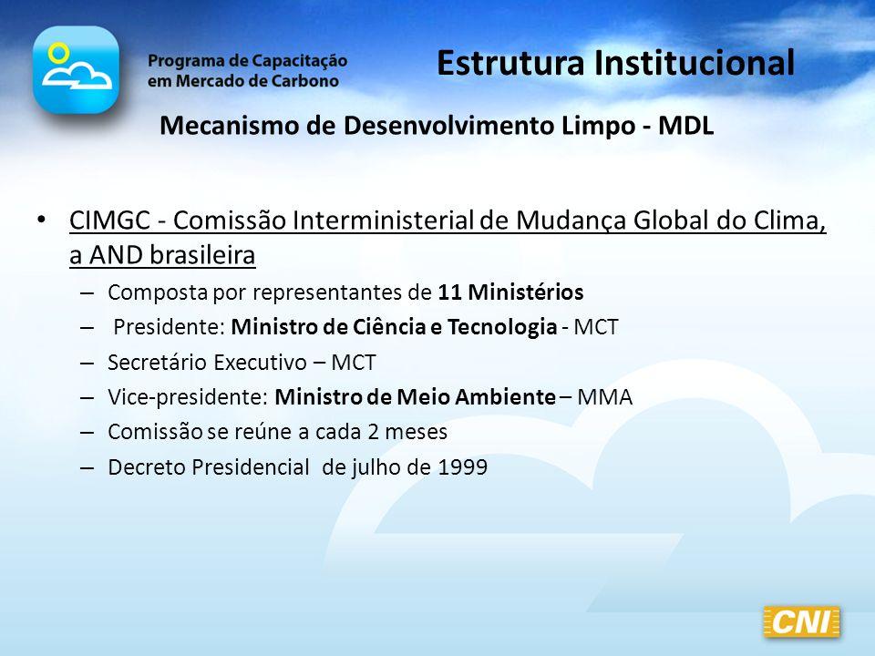 Estrutura Institucional Mecanismo de Desenvolvimento Limpo - MDL