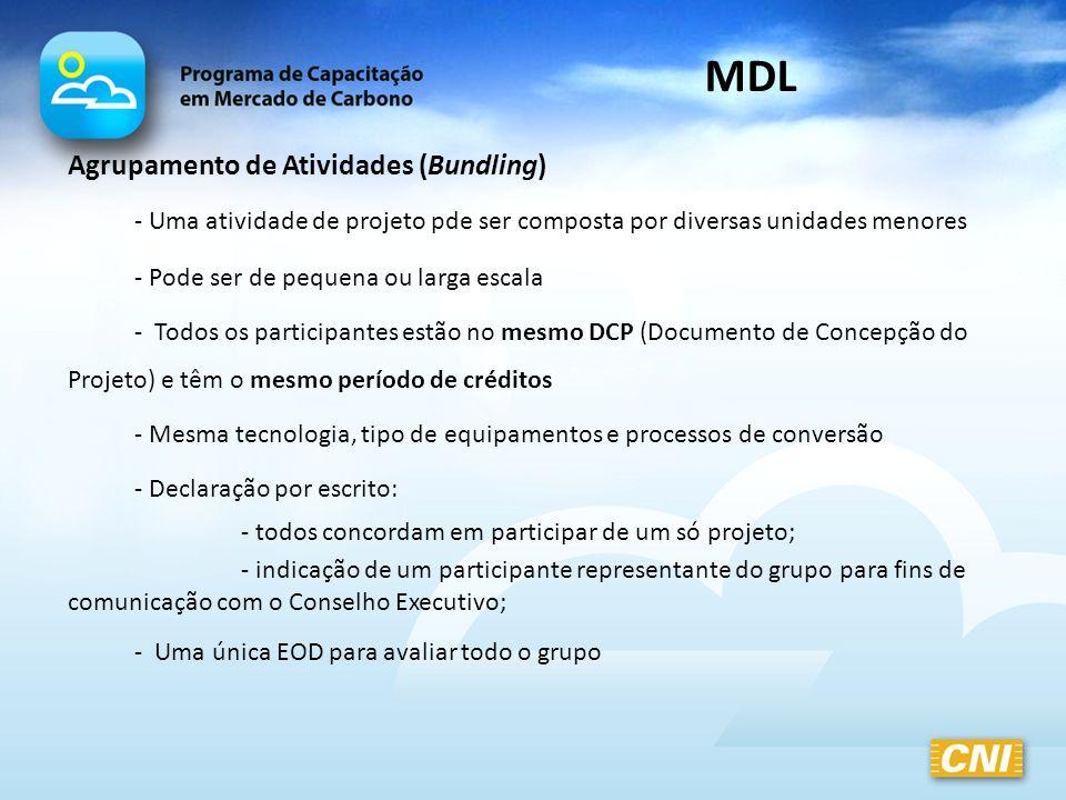 MDL Agrupamento de Atividades (Bundling)