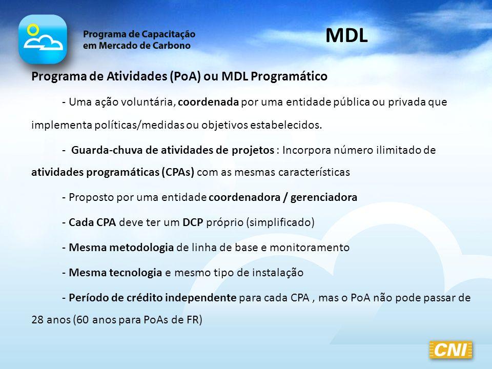 MDL Programa de Atividades (PoA) ou MDL Programático