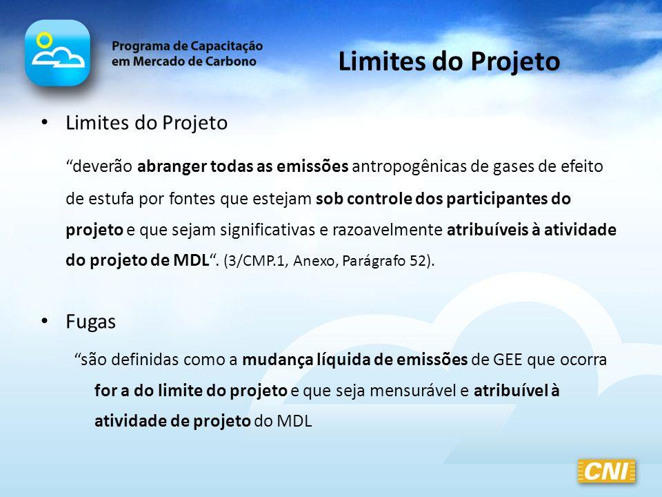 Limites do Projeto Limites do Projeto