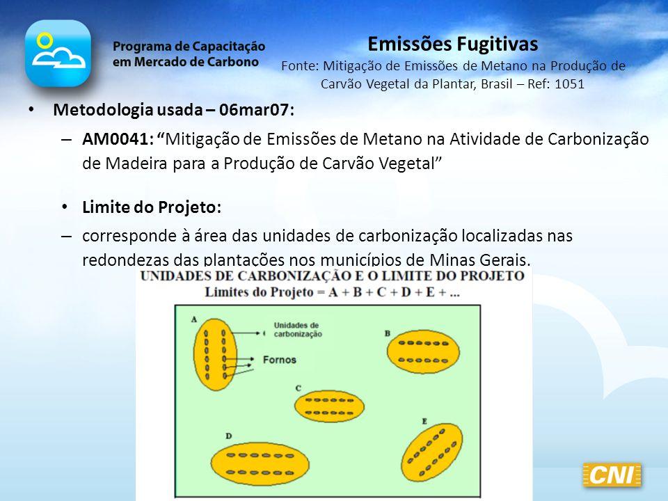 Emissões Fugitivas Fonte: Mitigação de Emissões de Metano na Produção de Carvão Vegetal da Plantar, Brasil – Ref: 1051