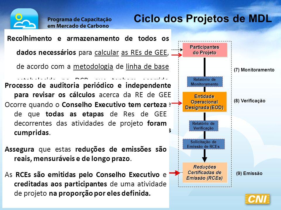 Ciclo dos Projetos de MDL