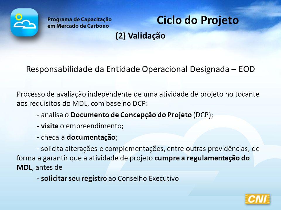 Responsabilidade da Entidade Operacional Designada – EOD