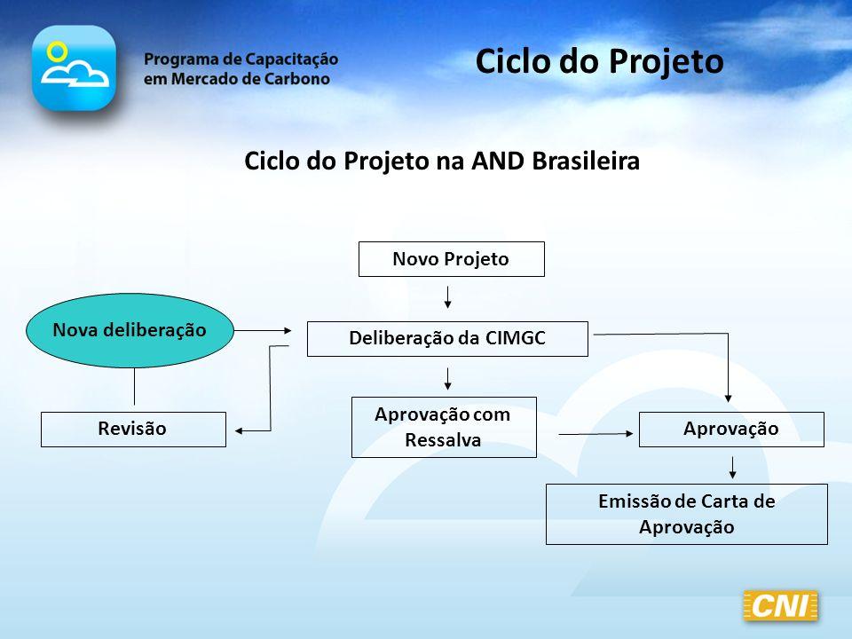 Ciclo do Projeto Ciclo do Projeto na AND Brasileira Novo Projeto