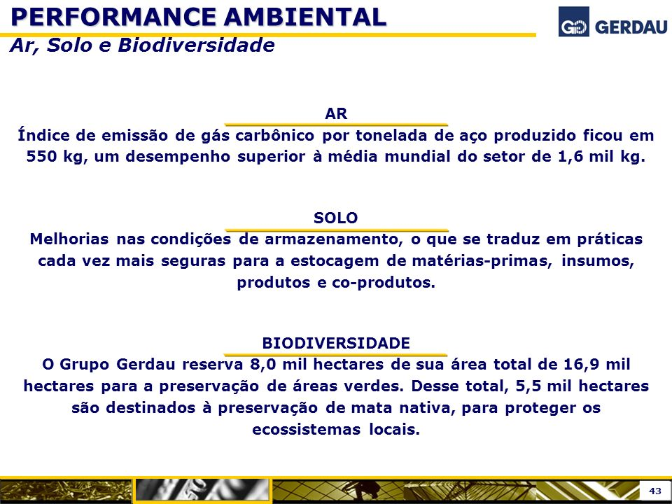 PERFORMANCE AMBIENTAL