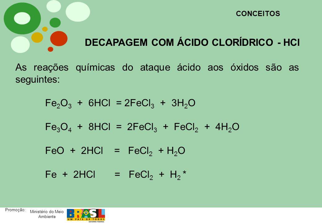 DECAPAGEM COM ÁCIDO CLORÍDRICO - HCl