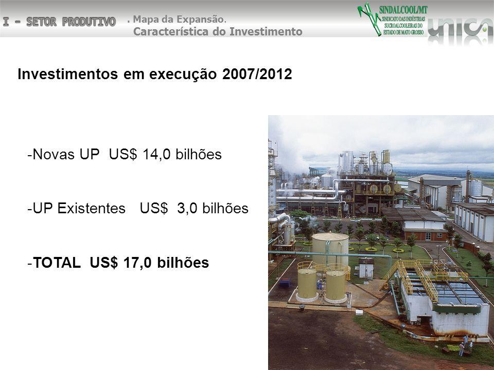 Investimentos em execução 2007/2012