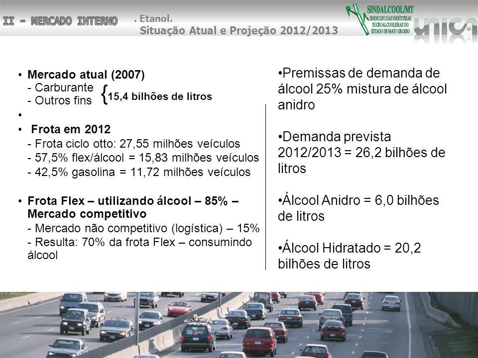 . Etanol. Situação Atual e Projeção 2012/2013