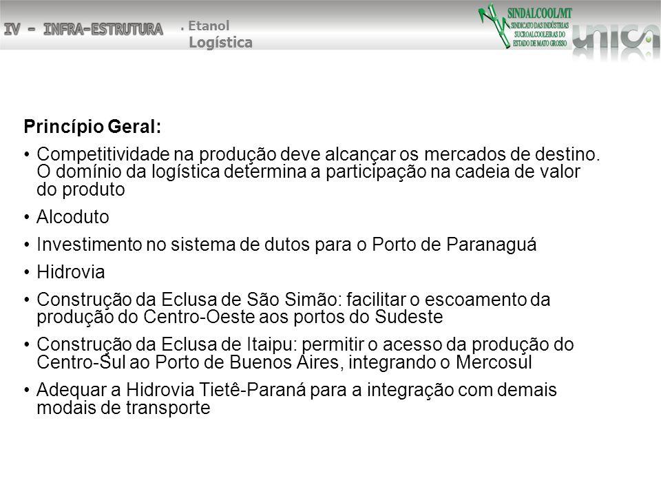 Investimento no sistema de dutos para o Porto de Paranaguá Hidrovia