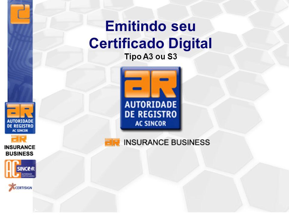 Emitindo seu Certificado Digital