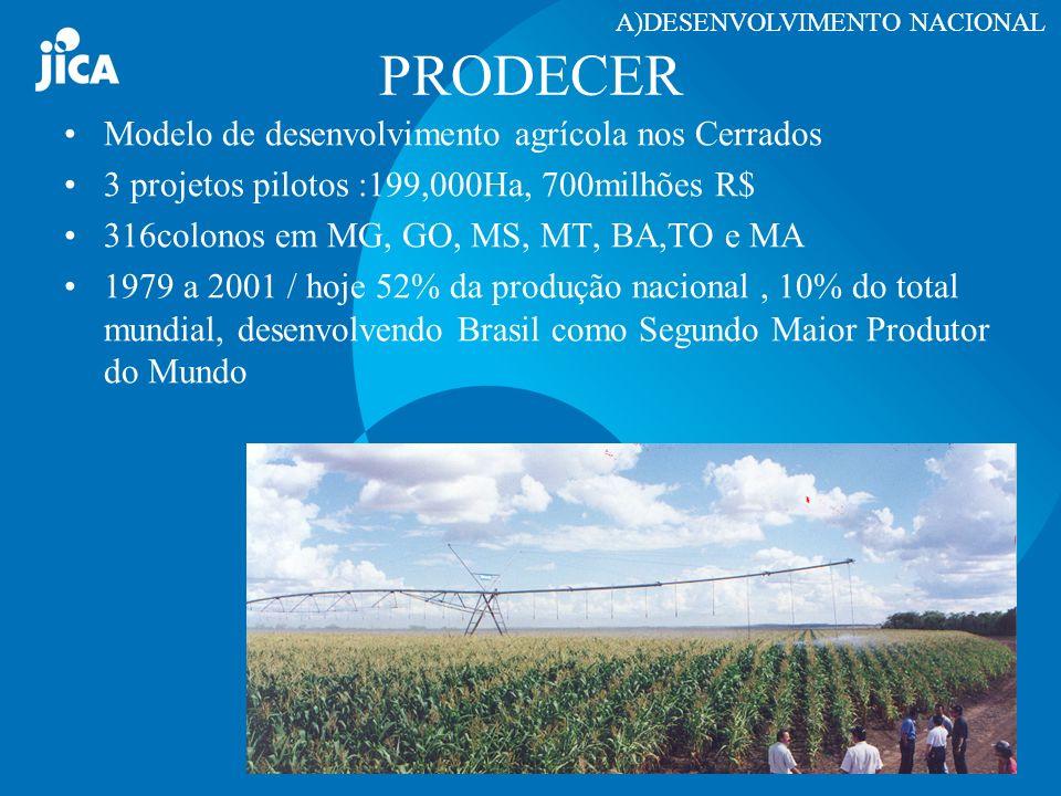 PRODECER Modelo de desenvolvimento agrícola nos Cerrados