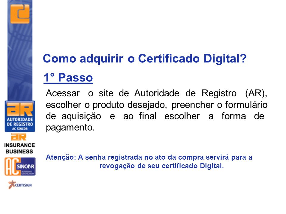 Como adquirir o Certificado Digital