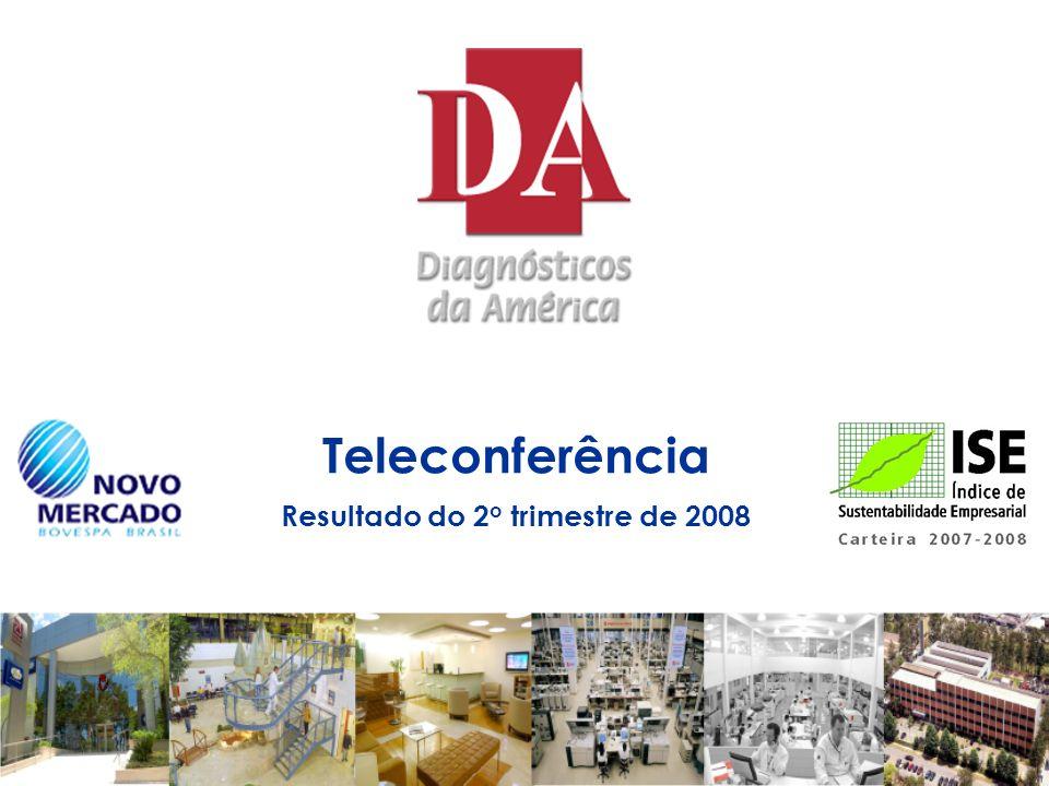 Teleconferência Resultado do 2o trimestre de 2008