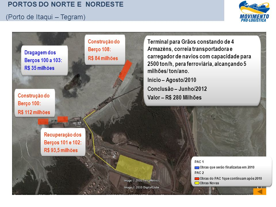 PORTOS DO NORTE E NORDESTE (Porto de Itaqui – Tegram)