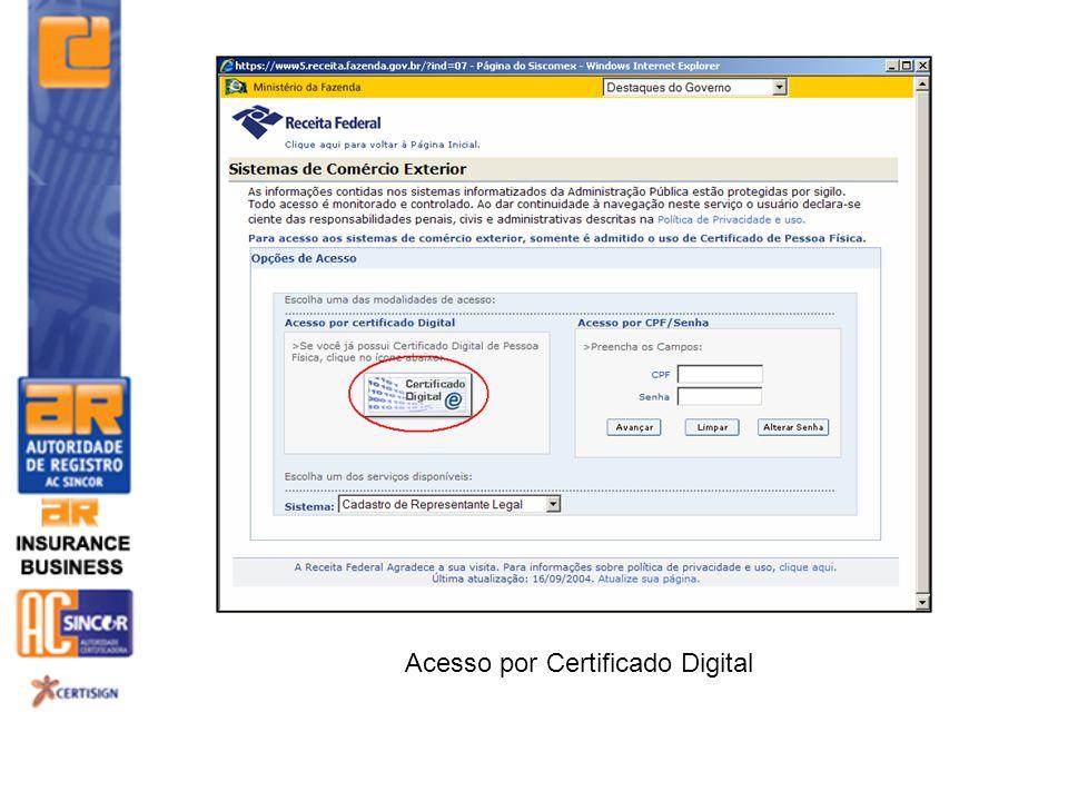 Acesso por Certificado Digital