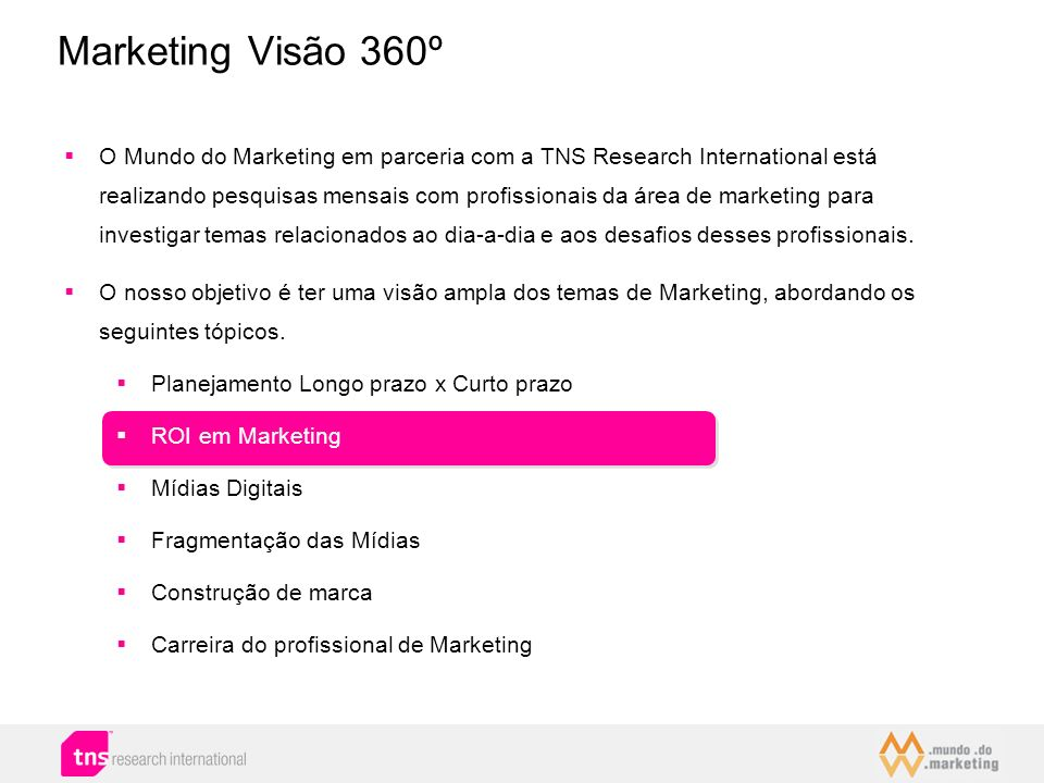 Marketing Visão 360º