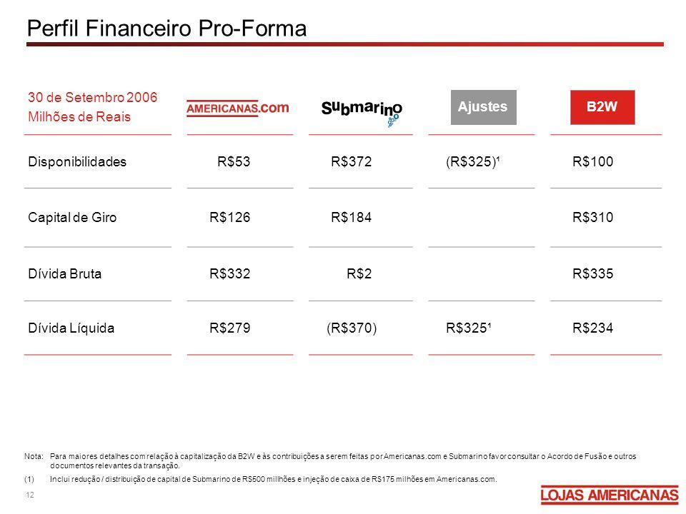 Perfil Financeiro Pro-Forma